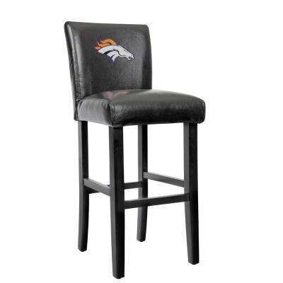 Charmant Black Bar Stool With Faux Leather Cover (Set Of 2