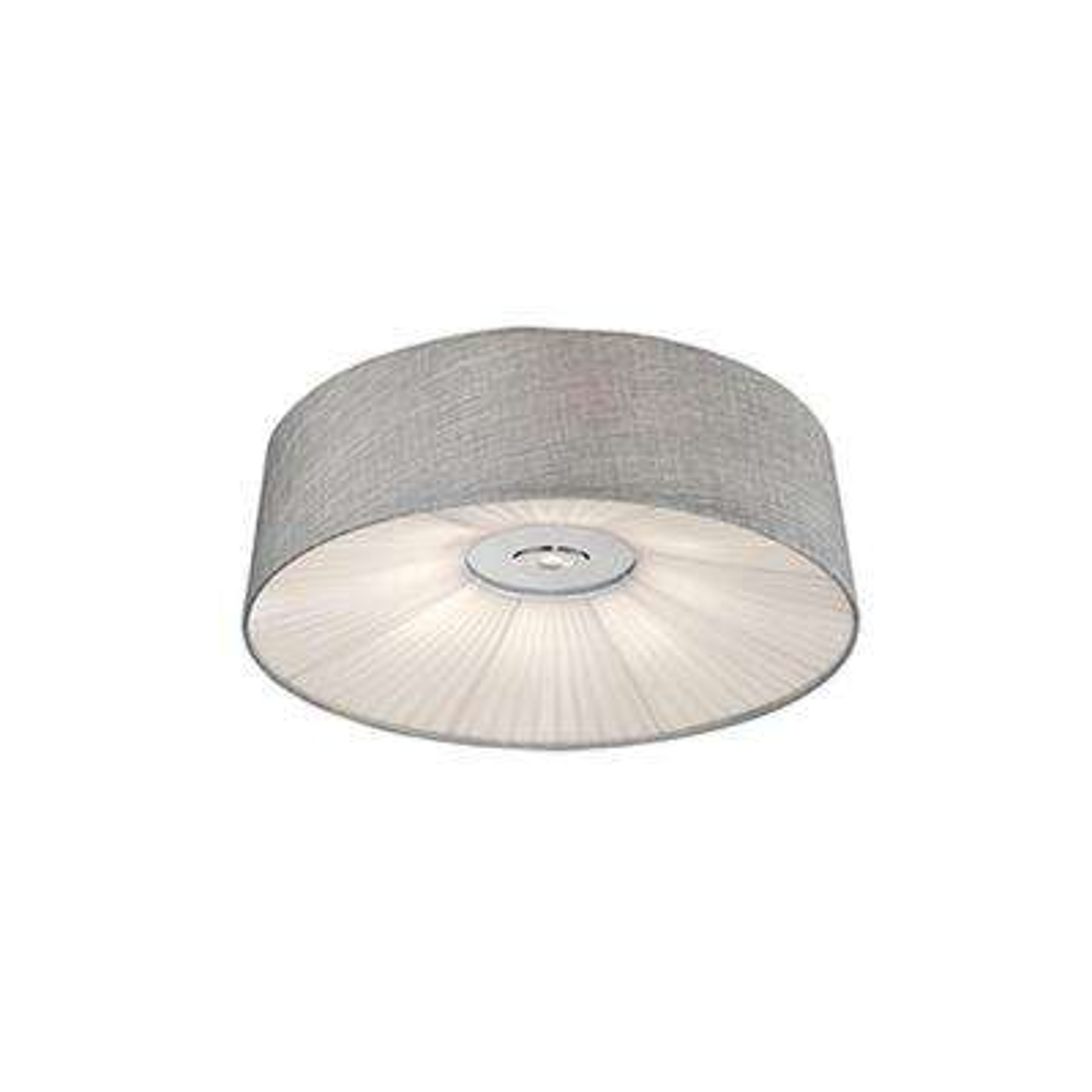 Heather Chrome 40-Watt Equivalence Integrated LED Ceiling Flushmount