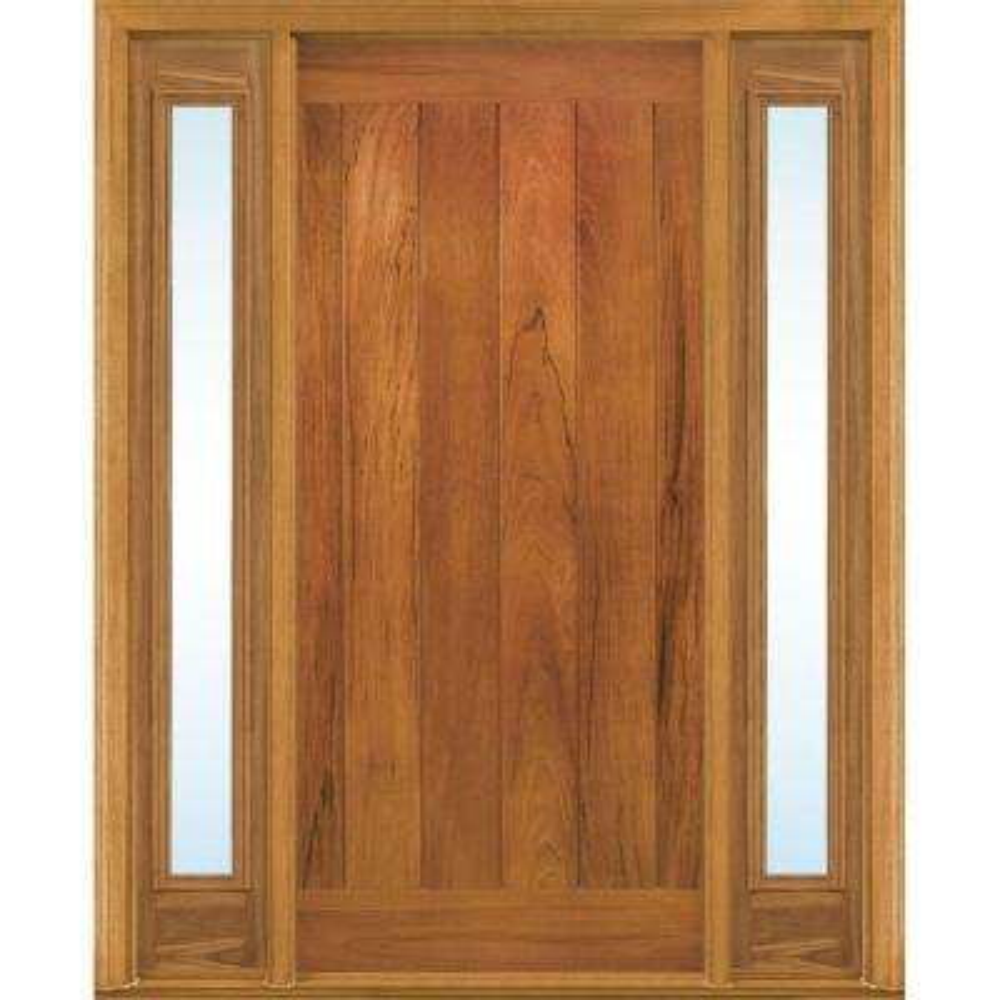 AvantGuard Flagstaff Finished Smooth Fiberglass Prehung Front Door with No Brickmold and Sidelites  sc 1 st  The Home Depot & Spanish Cedar - Doors Without Glass - Fiberglass Doors - The Home Depot