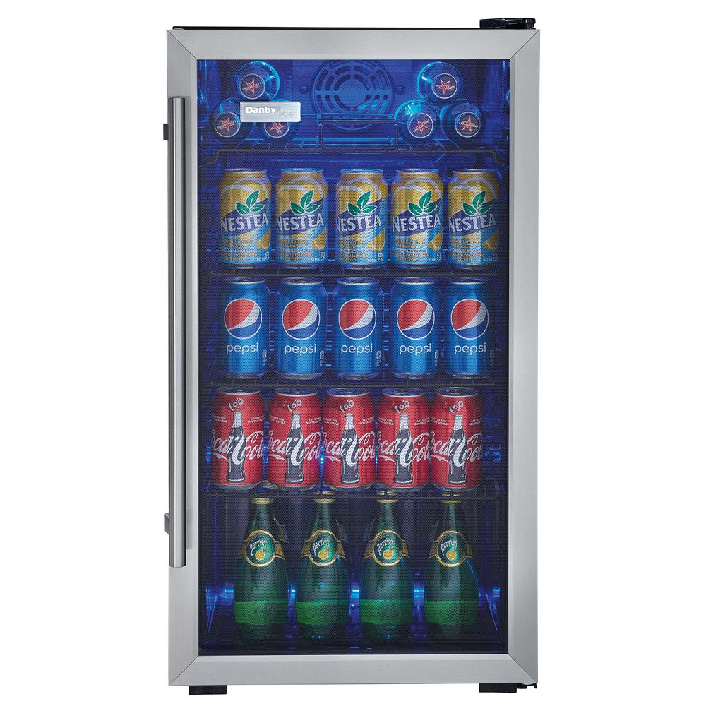 Danby Designer 3 Cu Ft 18 In 120 Can Beverage Center Dbc93bd The Home Depot