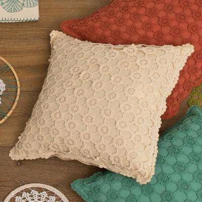 Crochet Envy Natural Pearl Decorative Pillow