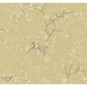 York Wallcoverings Birds with Blossoms Wallpaper by York Wallcoverings