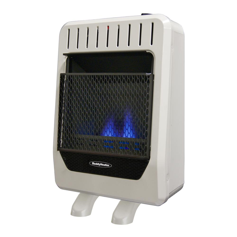 10,000 BTU Unvented Blue Flame Natural Gas Wall Heater with Manual