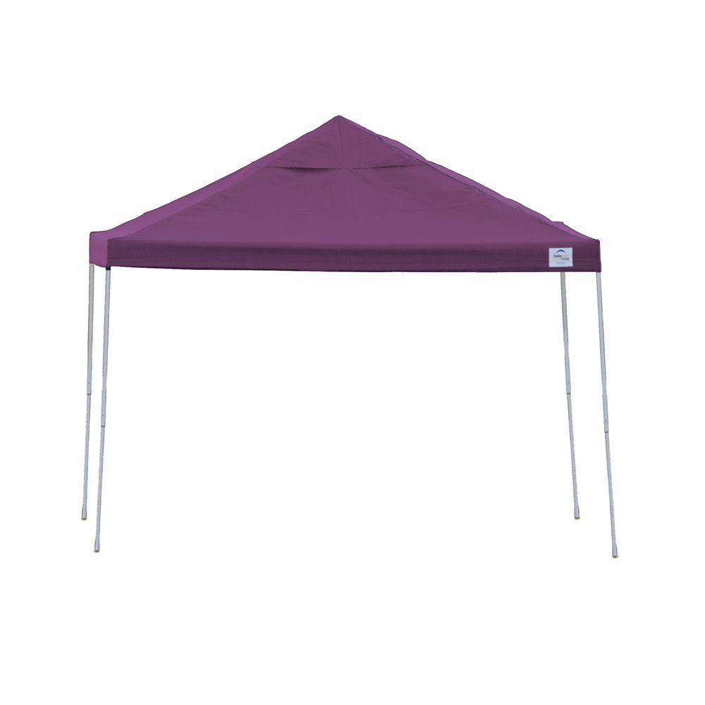 12 ft. x 12 ft. Purple Straight Leg Pop-Up Canopy