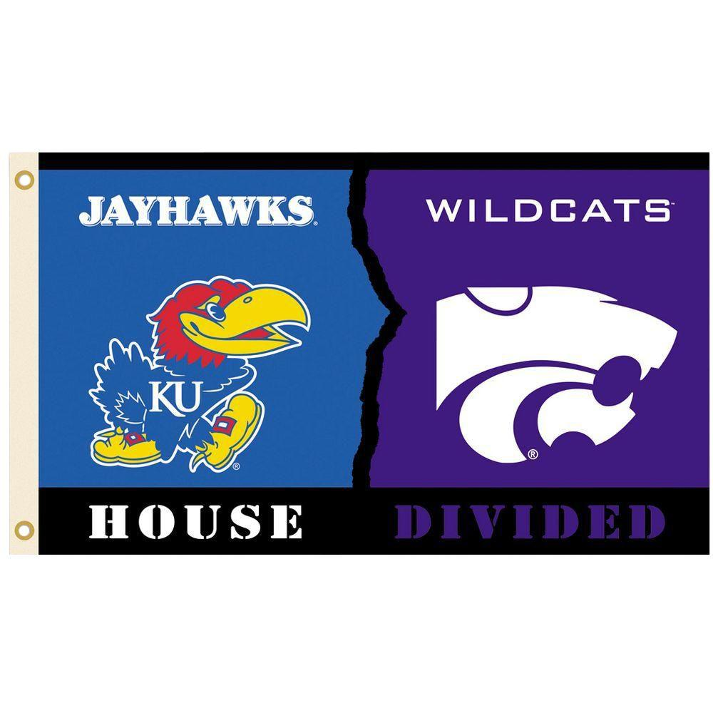 NCAA 3 ft. x 5 ft. Kansas/Kansas State Rivalry House Divided