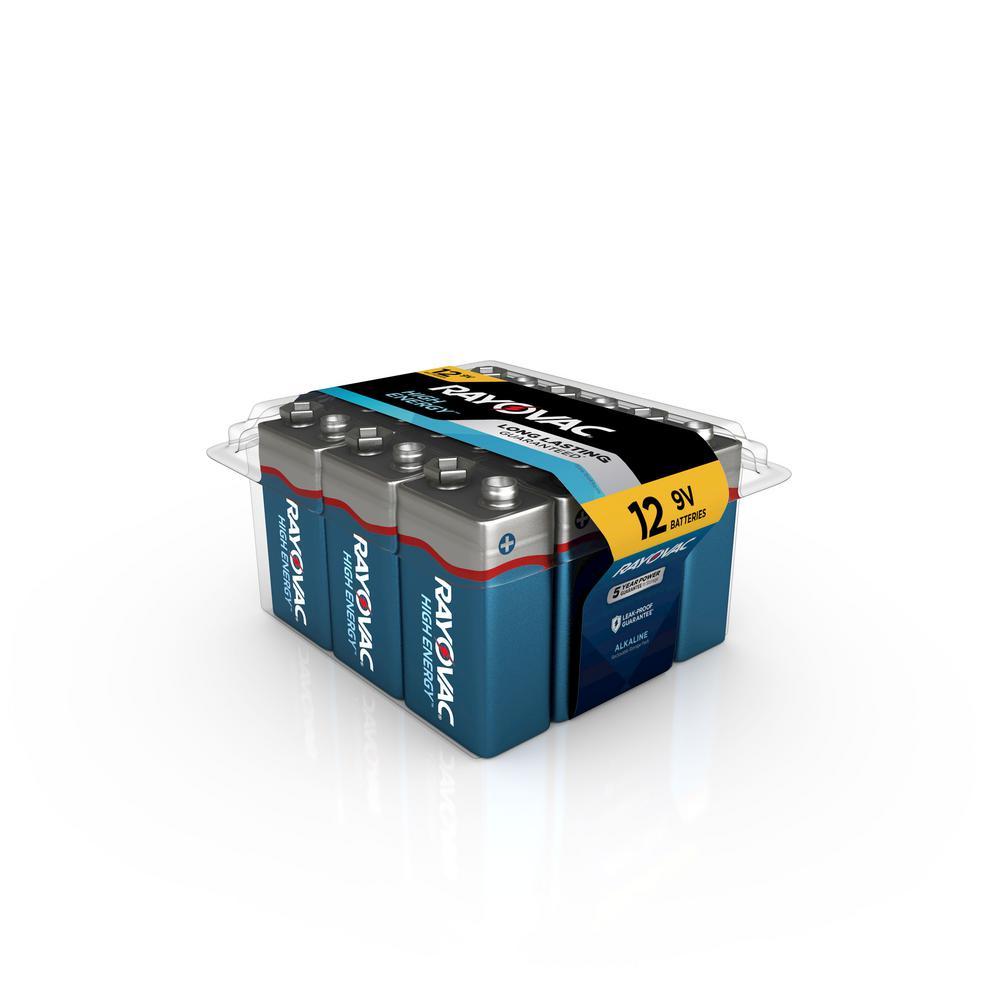 Rayovac High Energy Alkaline 9-Volt Battery (12-Pack)