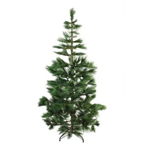 7 ft. x 48 in. Pre-Lit Long Needle Pine Artificial Christmas Tree with Warm Clear Micro Rice LED Lights