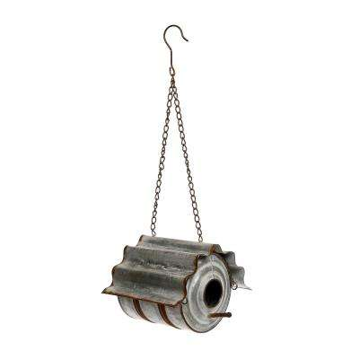 7 in. Tall Metal Tin Can Birdhouse