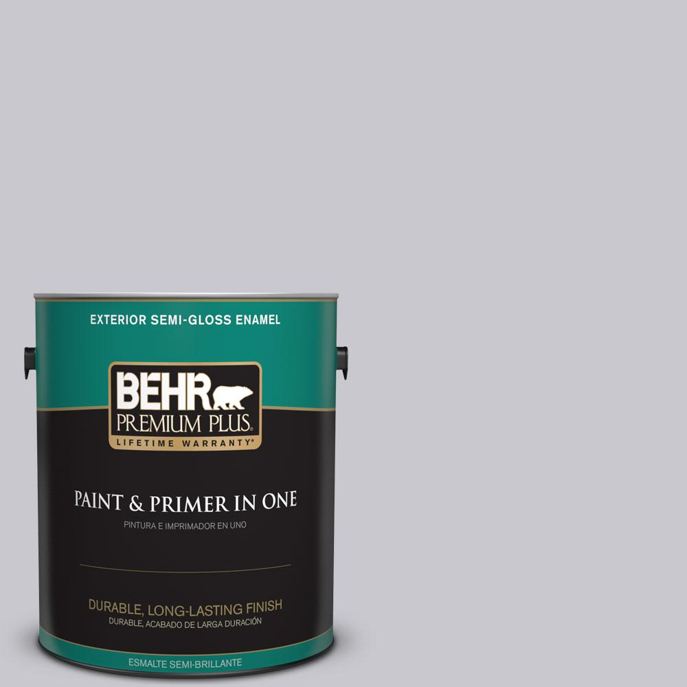 1-gal. #ECC-62-1 Urban Gray Semi-Gloss Enamel Exterior Paint