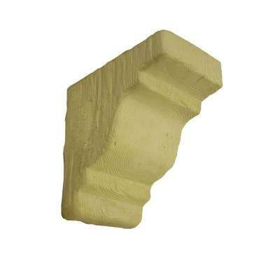 10-1/2 in. x 10-1/2 in. x 6-1/2 in. Unfinished Polyurethane Rustic Faux Wood Corbel