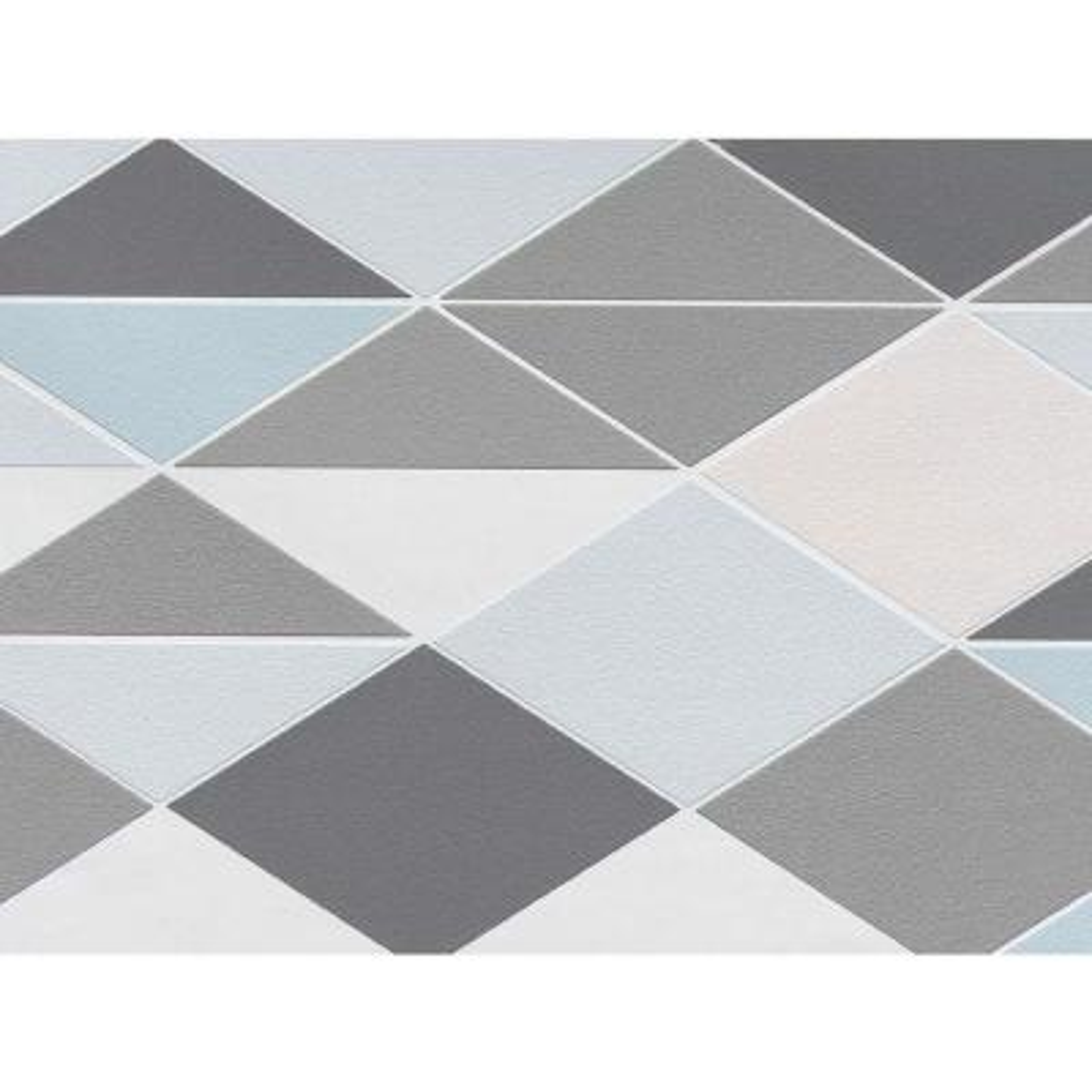 Grey & Blue Dwinding Diamonds Wallpaper