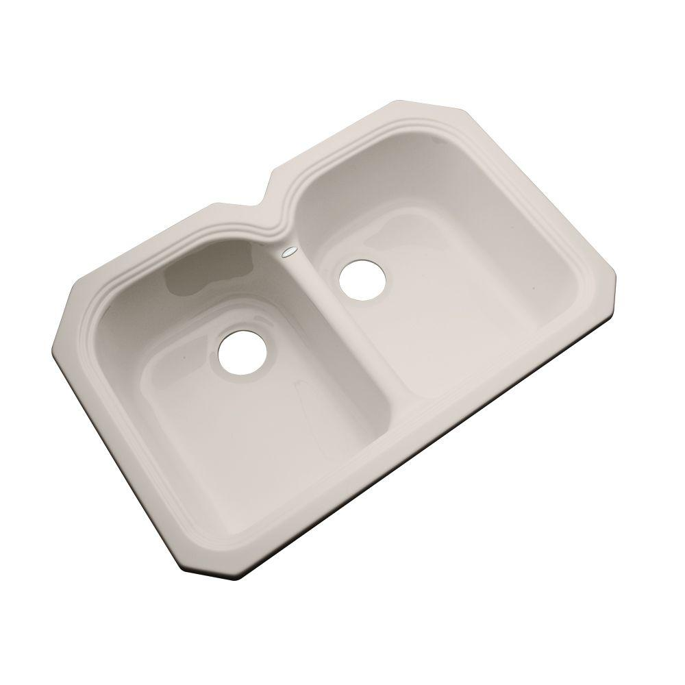 Thermocast Hartford Undermount Acrylic 33 in. Double Bowl Kitchen Sink in Shell