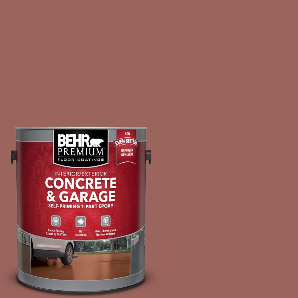 1 gal. #ECC-34-3 Terra Cotta Sun Self-Priming 1-Part Epoxy Satin Interior/Exterior Concrete and Garage Floor Paint