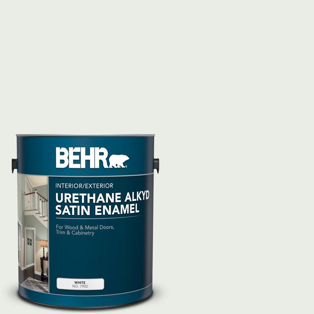 1 gal. #N410-1 Silence Urethane Alkyd Satin Enamel Interior/Exterior Paint
