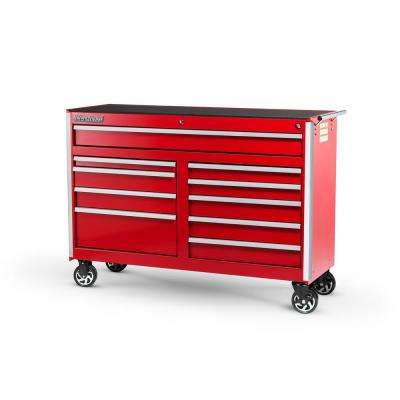 Tech Series 54 in. 10-Drawer Roller Cabinet Tool Chest Red