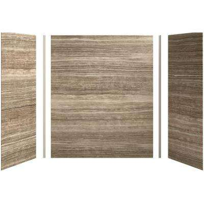 Choreograph 60in. X 32 in. x 72 in. 5-Piece Bath/Shower Wall Surround in VeinCut Sandbar for 72 in. Bath/Showers