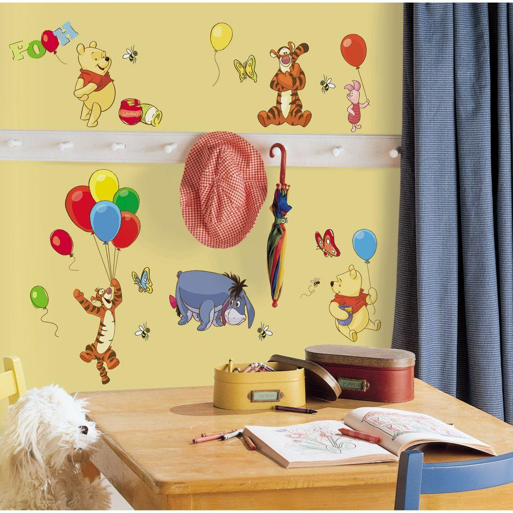 RoomMates 10 in. x 18 in. Winnie the Pooh - Pooh and Friends 38 ...
