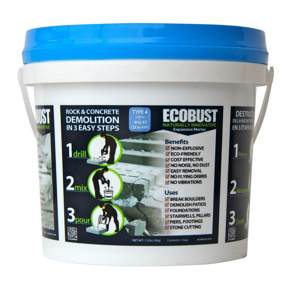 ECOBUST 11 lb. Concrete Cutting and Rock Breaking Non-Combustive Demolition Agent Type 4 (23F - 41F)