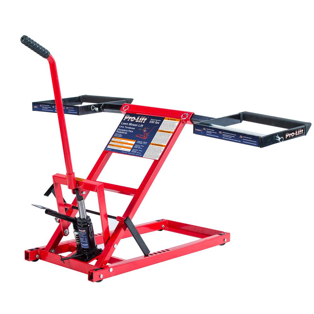 Garden Tractor Work Stand : Homemade lawn mower lift kit ftempo
