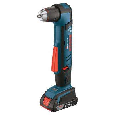 18 Volt Lithium-Ion Cordless 1/2 in. Variable Speed Right Angle Drill Kit with 2.0 Ah Battery