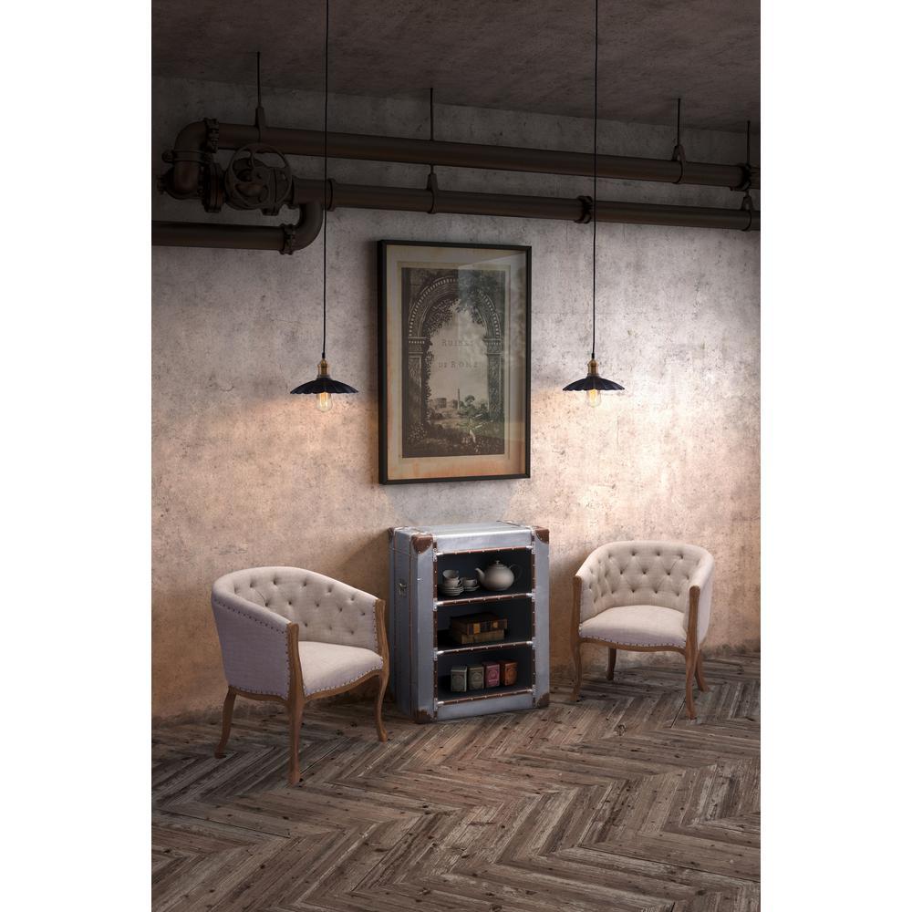 Hamilton Antique Black and Copper Ceiling Lamp