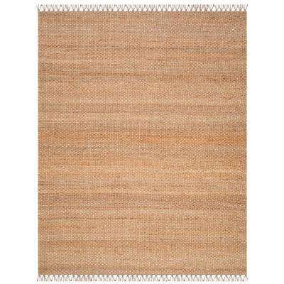 Natural Fiber Beige/Multi 9 ft. x 12 ft. Area Rug