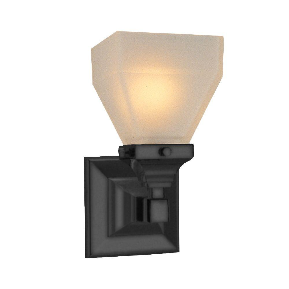 American Standard Town Square Wall Sconce in Blackened Bronze-DISCONTINUED
