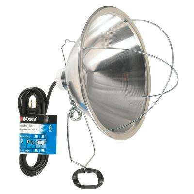 300-Watt 6 ft. 18/2 SJTW Incandescent Brooder Clamp Work Light and Heat Lamp with 10 in. Reflector and Bulb Guard