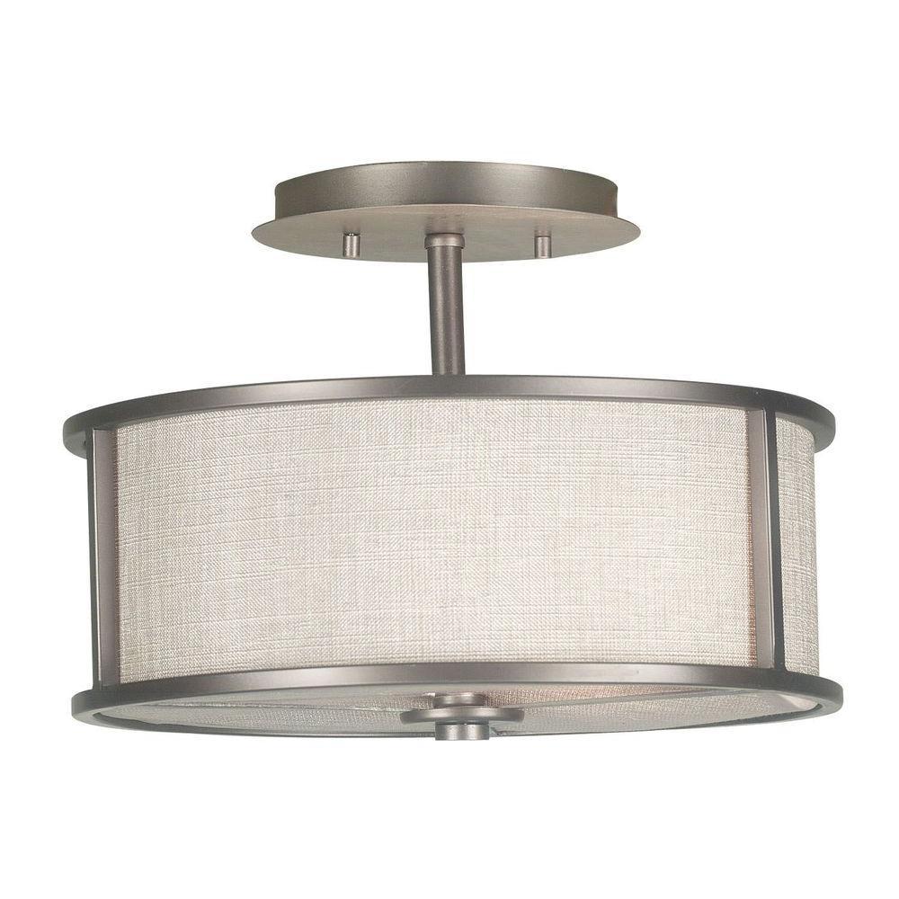 Kenroy Home Whistler 2-Light Bronze Gilt Semi-Flush Mount Light