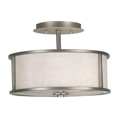 Whistler 2-Light Bronze Gilt Semi-Flush Mount Light