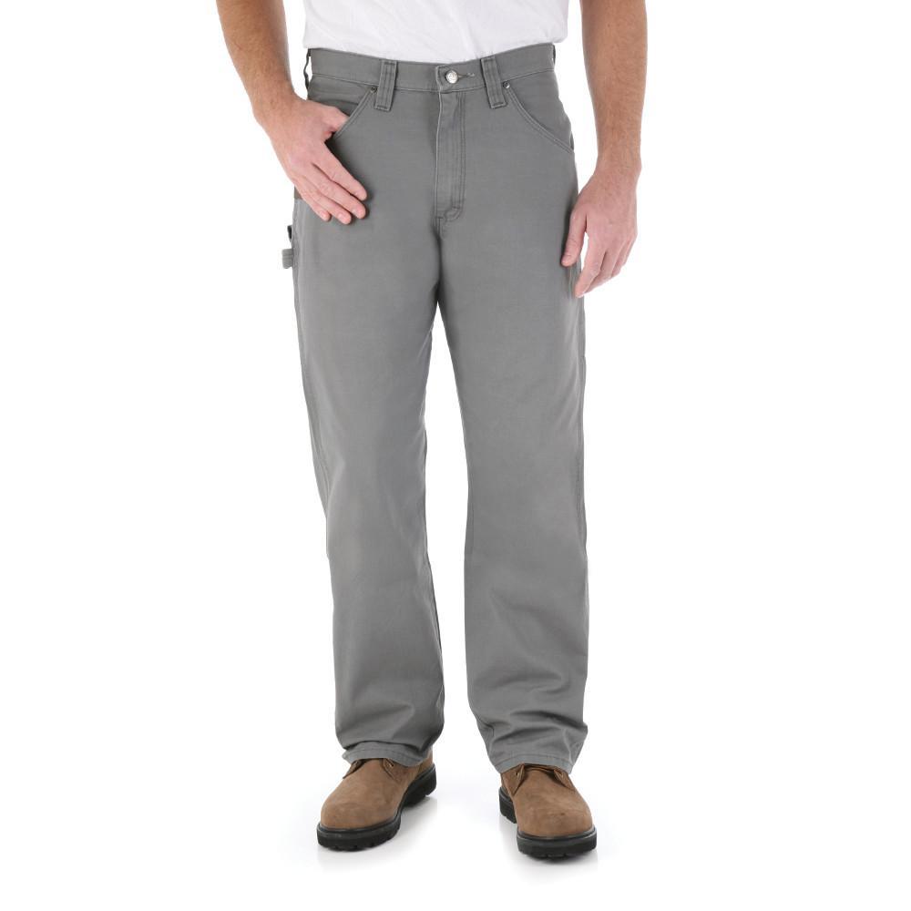 Men's Size 44 in. x 30 in. Slate Carpenter Pant