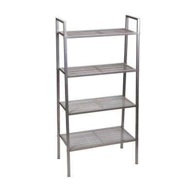 23 in. x 11.5 in. Free-Standing 4-Tier Storage Rack in Gunmetal