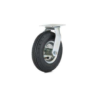 8 in. black Swivel Without Brake plate Caster, 176.4 lb. Load Rating