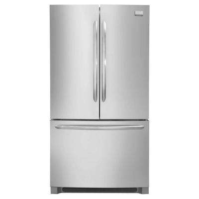 22.4 cu. ft. Non-Dispenser French Door Refrigerator in Stainless Steel, Counter Depth