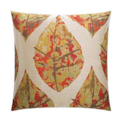 Autumn Feather Down 24 in. x 24 in. Standard Decorative Throw Pillow
