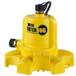 Wayne 0.16 HP WaterBUG Submersible Utility Pump with Multi-Flo Technology by Wayne