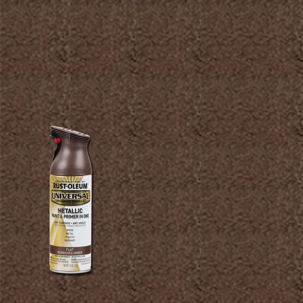 Rust-Oleum Universal 11 oz. All Surface Flat Metallic Burnished Amber Spray Paint and Primer in One
