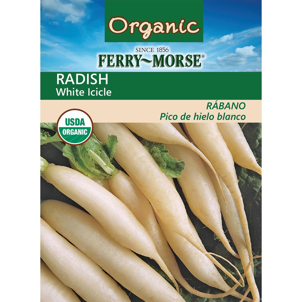 Ferry-Morse Radish Icicle Short Top Organic Seed