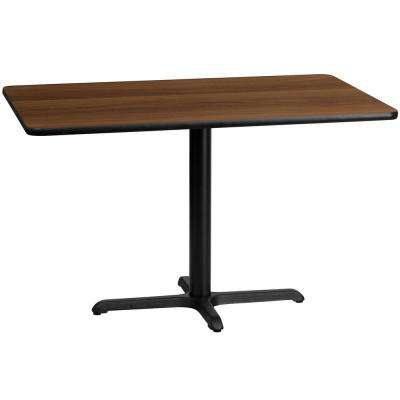 30 in. x 48 in. Rectangular Walnut Laminate Table Top with 22 in. x 30 in. Table Height Base