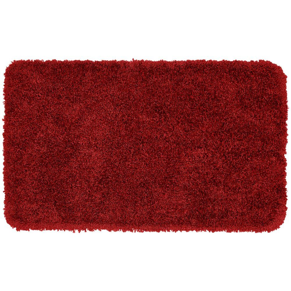 Red Bathroom Rug: Garland Rug Serendipity Chili Pepper Red 30 In. X 50 In