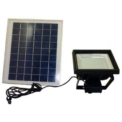 Solar Super Bright Black 108-LED Outdoor Flood Light with Timer