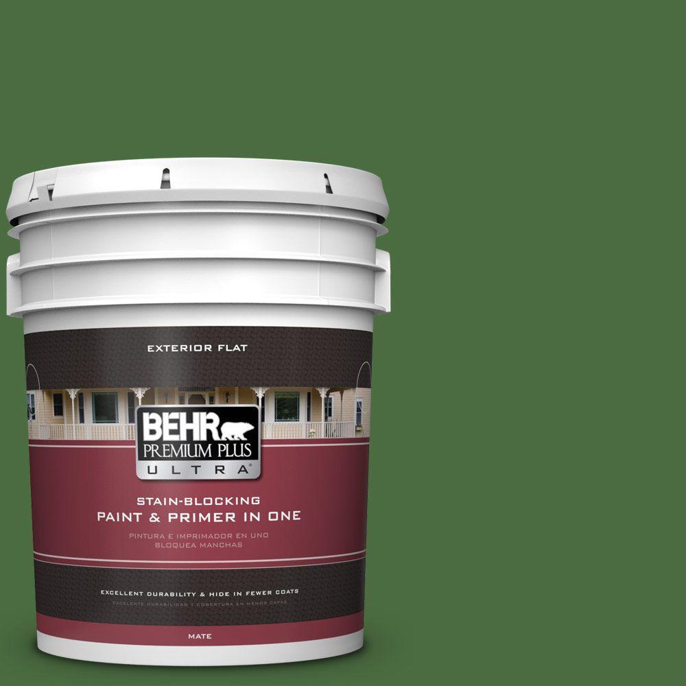 BEHR Premium Plus Ultra 5-gal. #S-H-440 Pine Scent Flat Exterior Paint