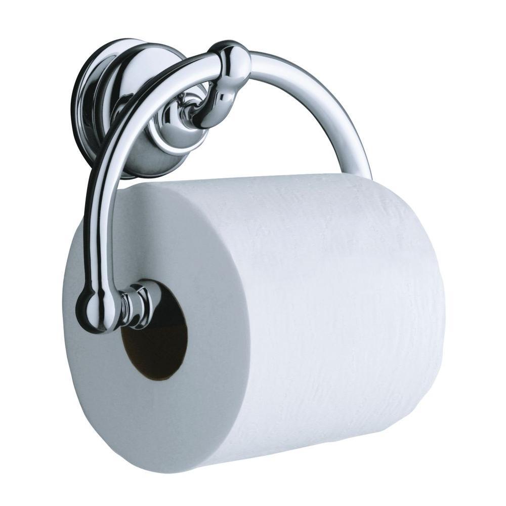 Kohler Fairfax Wall Mount Single Post Toilet Paper Holder In Polished Chrome