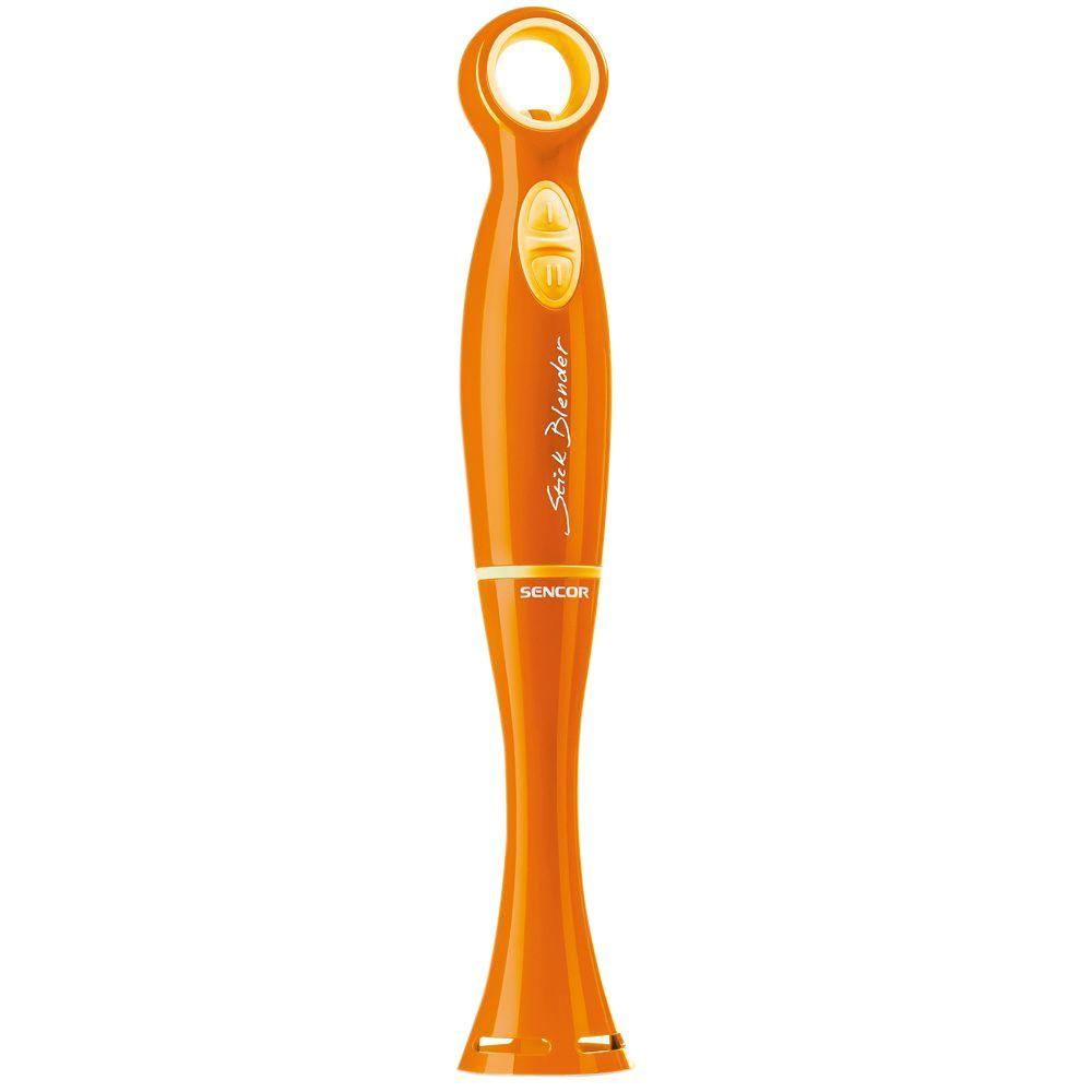 Hand Blender, Orange 2 speeds with a TURBO function for an instant power boost. Variable speed control for a gentle start reducing the risk of splattering. Removable plastic blending attachment for easy cleaning. Color: Orange.