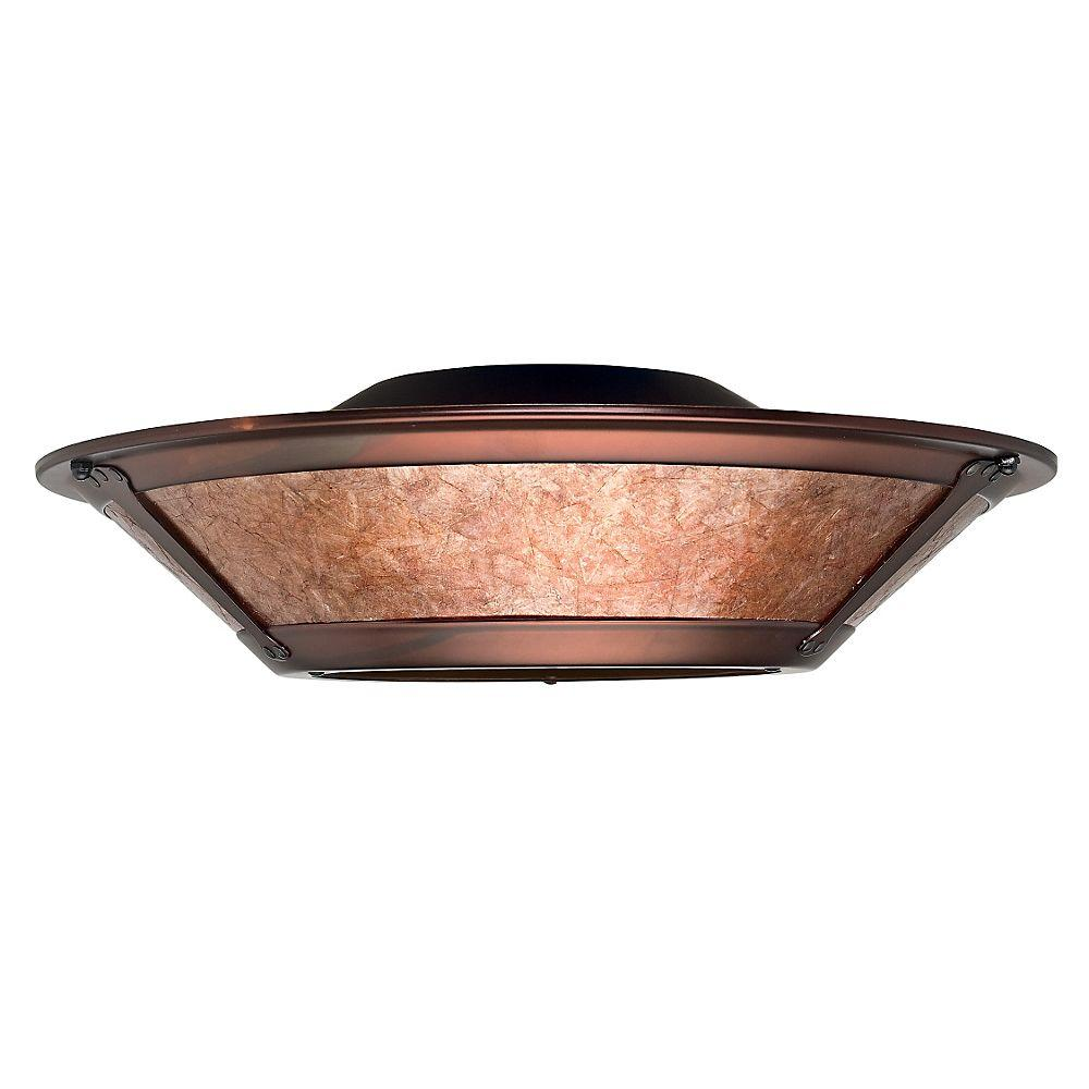 Casablanca 3-Light Weathered Copper Ceiling Fan Integrated Mica Fixture with Glass Light Kit-DISCONTINUED