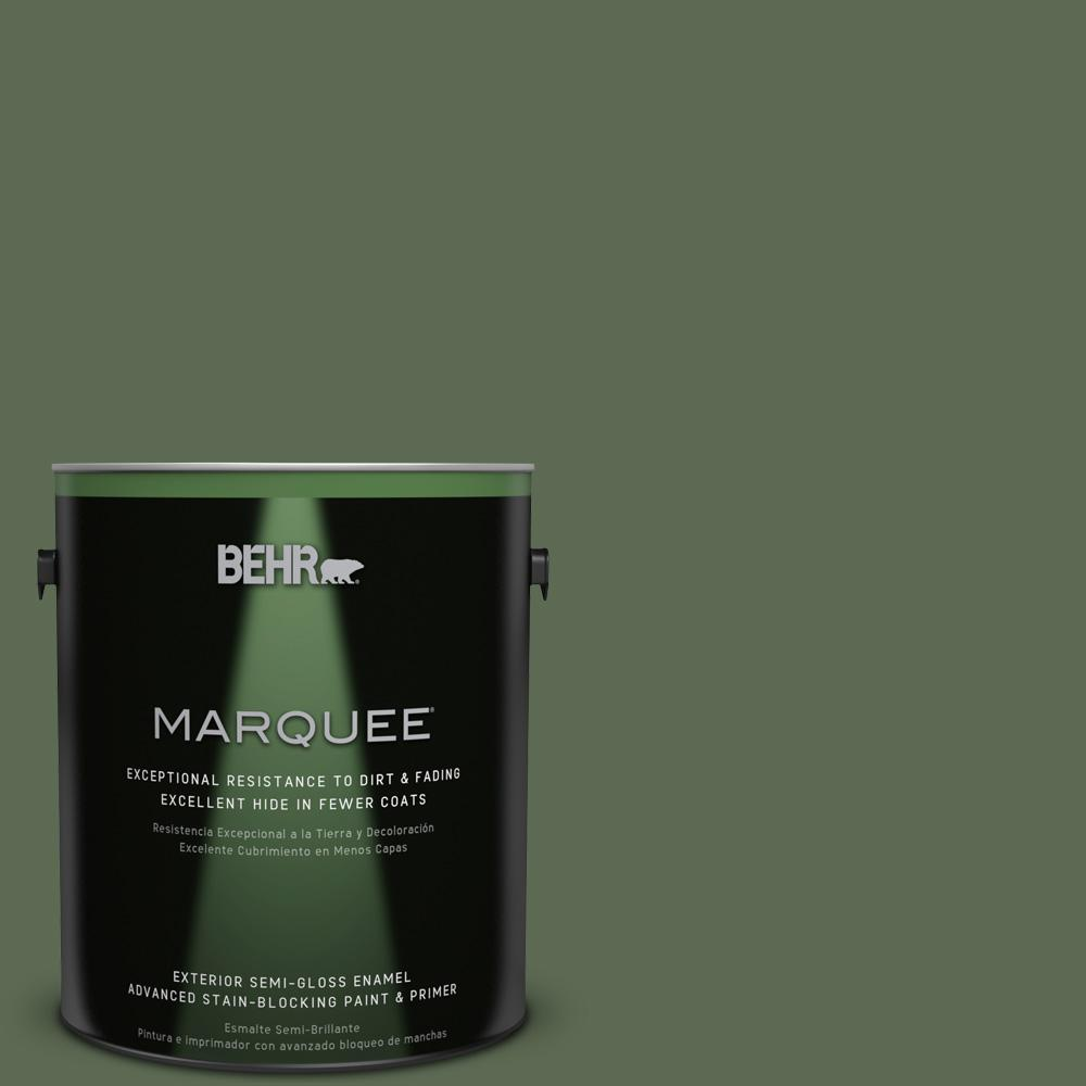 BEHR MARQUEE 1-gal. #430F-6 Inland Semi-Gloss Enamel Exterior Paint