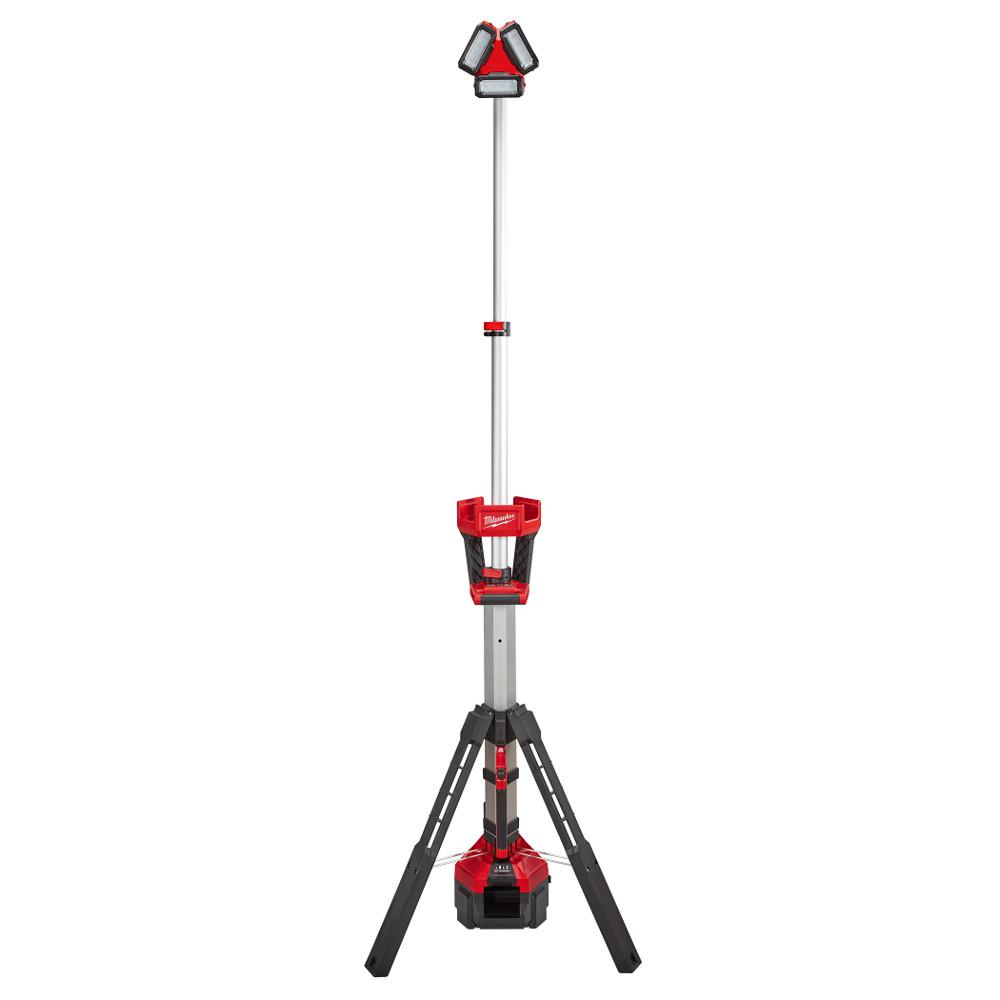 Milwaukee M18 18-Volt Lithium-Ion Cordless 3000-Lumen ROCKET LED Stand Work Light & Charger (Tool-Only)