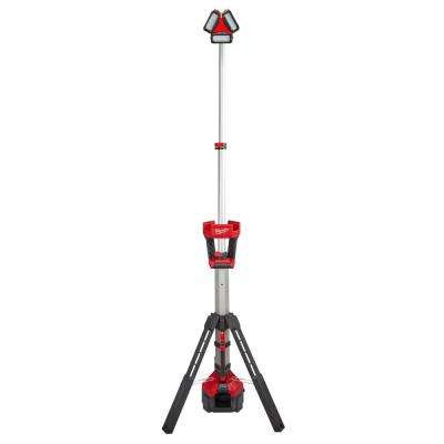 M18 18-Volt Lithium-Ion Cordless 3000-Lumen ROCKET LED Stand Work Light & Charger (Tool-Only)