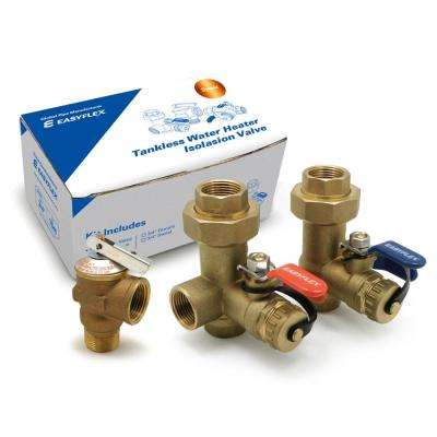 Tankless Water Heater Isolation Valve Kit