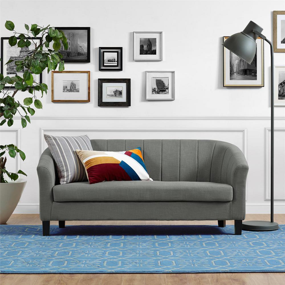 Roxanne Gray Linen Sofa